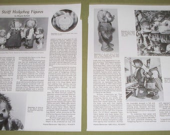 1982 Doll Magazine Article Reference ~ Steiff Hedgehog Figures