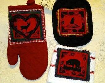 Elk Country Wildlife Kitchen or Hand/Guest Towels - Oven Mitts - Hot Pads. Elk, Bear, Deer, Bison/Buffalo, Antelope, Rooster, Heart