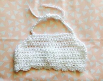 Crocheted Girls' Boho Halter Crop Top