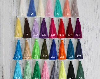 """6pcs-Silk Tassels Long Silky Jewelry Tassels, 6.5cm ( 2.55"""" )Handmade Tassel for Jewelry Making Silk Fringes Tassel Earrings Tassel Necklace"""