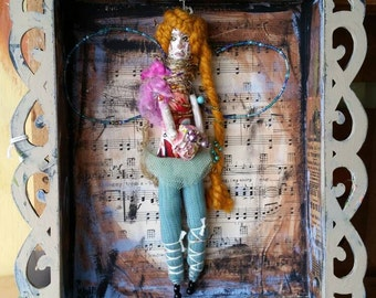 Art doll. Mixed media. Ooak. Doll. Fairy tale doll