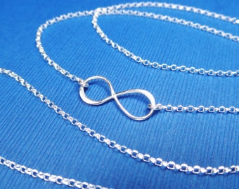 Infinity necklace,Sterling silver infinity bracelet,infinity anklet,bridesmaid gift,birthday gift,