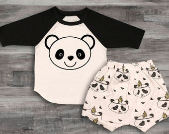 Baby Boy Clothes Panda Bear Name Shirt new baby gift Going Home Outfit Baby Boy Hospital Outfit baby boy shower gift, Baby boy gift Baby boy