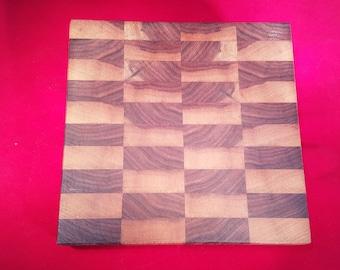 Small End Grain Cutting Board Solid Walnut