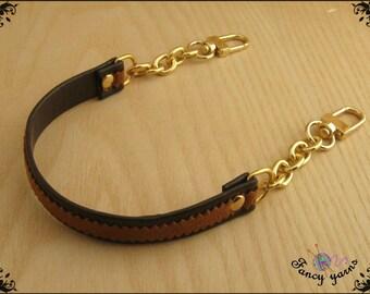 Handle bag, brown-gold, cm.34