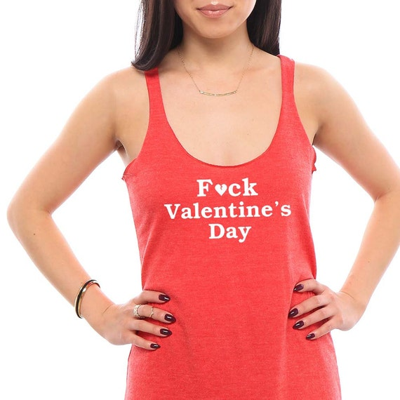 F Valentine's Day- Womens Tank Top, Workout Tank, Cute Yoga Tank, Funny TShirts, Best Friend Gift, Tank, Valentines, Valentines Day Shirt
