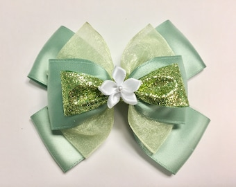 Princess and the Frog Tiana Inspired Hair Bow