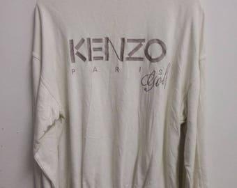 Rare Vintage KENZO Golf Sweatshirt Size L