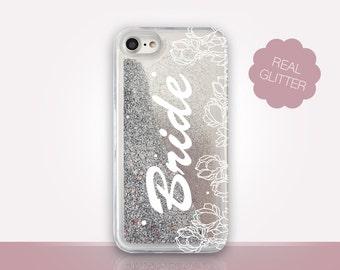 Bride Glitter Phone Case Clear Case For iPhone 8 iPhone 8 Plus - iPhone X - iPhone 7 Plus - iPhone 6 - iPhone 6S - iPhone SE  iPhone 5