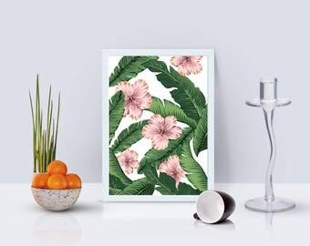 Summer Flowers Print - Home Decor - Hippie Art Print -  Art Print - Esoteric Print- Spiritual Print- Supernatural