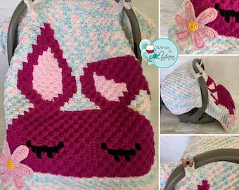 Sleepy Bunny Car seat Cover