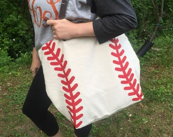 Personalized Baseball Tote Bag, Embroidered Baseball Tote,  Monogrammed Baseball Bag, Monogrammed Baseball Tote Bag, Baseball bag