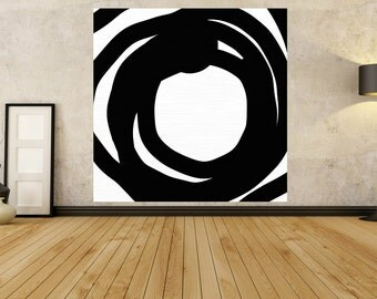 Large Abstract Painting - MODERN PAINTING - Black White Painting - contemporary art - 20 30 40 50 60 Inches - Giant Painting - Huge Painting