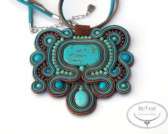 "Soutache Pendant ""Atlantis"""