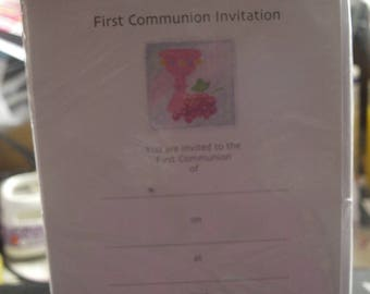 A Girl's First Communion Invitation Sheets