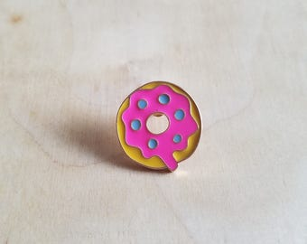 Pink Doughnut Enamel Pin