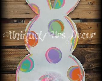 Bunny Door Hanger, Rabbit Door Hanger, Easter Door Hanger, Door Hanger