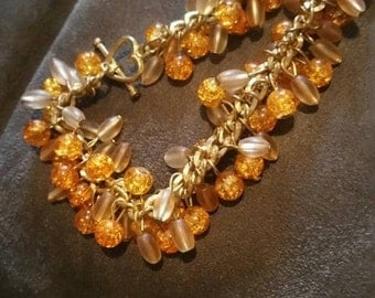 Orange Topaz Colored Bracelet