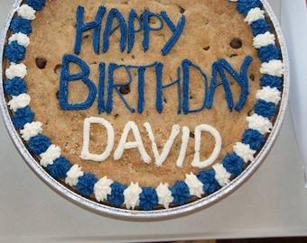 Gigantic Cookie - Birthday Cake alternative, Big chocolate chip cookie, Big Brownie cookie, Giant, Cookie cake, decorated cookie