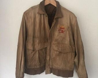 Vintage Aerosmith Permanent Vacation Tour '87-'88 Genuine Leather Jacket U2 Wear Me Out