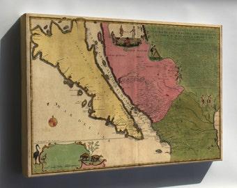 Canvas 24x36; Map Of California As An Island 1720 P1