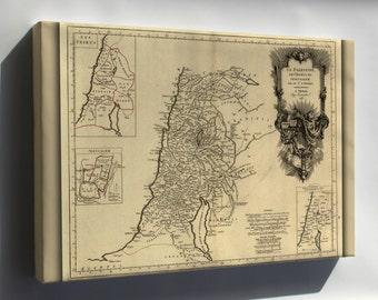 Canvas 16x24; 1783 Map Of Jerusalem Palestine Holy Land Israel