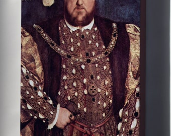 Canvas 16x24; King Henry Viii By Hans Holbein The Younger