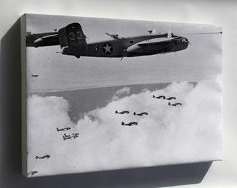 Canvas 16x24; B-25C Mitchell, Martin Baltimore Bombers North Africa 1943