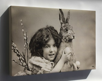Canvas 16x24; Easter Rabbit 1907