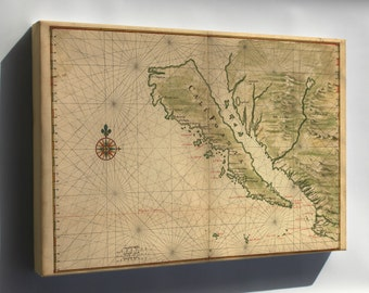 Canvas 16x24; Map Of California Shown As An Island 1650 P2