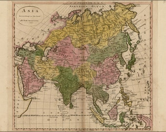 16x24 Poster; Map Of Asia 1814 P2