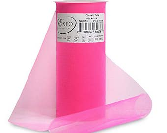 Expo Classic Tulle Spool of 25-Yard, Pink