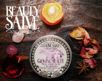 Youth and Beauty Anointing Balm *Glowing Beauty* 100& Natural. With Essential Oils, herbs and crystals