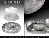 """STAND CRATER to the """"Full Moon Ring Box"""" - engagement, proposal, wedding, marriage, matrimony, bridal, nuptials, espousal, case, jewel, dish"""