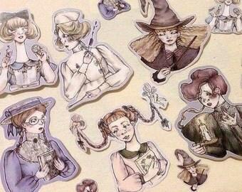 1 STICKER ~ Violet Fane illustrations ~ Les filles qui savaient où chercher