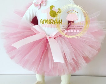 Minnie Mouse birthday outfit - Minnie Mouse tutu dress - Minnie Mouse 1st birthday outfit - Minnie Mouse birthday theme - Minnie Mouse tutu