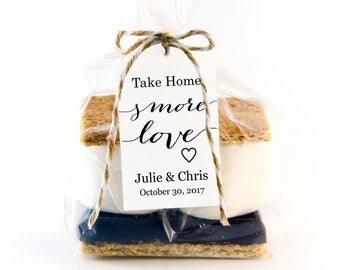 take home smore love tag template wedding favor tag template diy editable