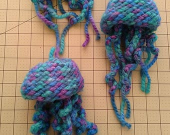 Adorable Crocheted Jellyfish - set of 3
