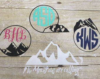 Camping Decals/Mountains/Monograms