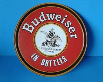 """Metal Sign * Budweiser Anheuser Busch * 11.75"""" Dia."""