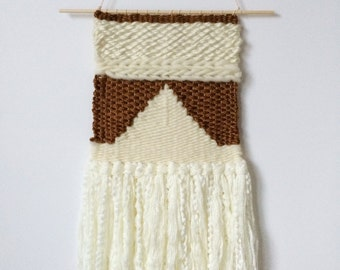 Hand woven neutral wall hanging