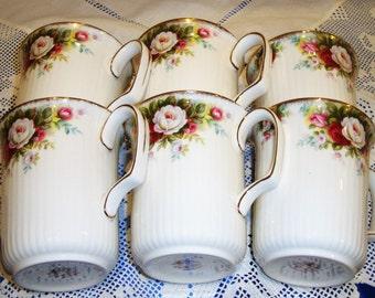 Royal Albert CELEBRATION ROSE Coffee Mugs,