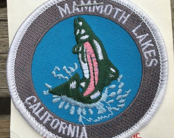Mammoth Lakes California Vintage Souvenir Travel Patch from Reno Tahoe Specialty