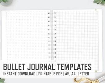 bullet journal template etsy