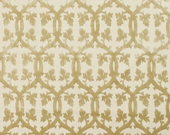 SCALAMANDRE FALK MANOR House Trellis Cut Velvet Fabric 10 Yards Sisal