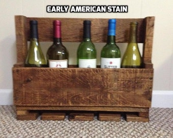 Rustic Pallet Wine Rack And Wine Glass Holder, Pallet Wine Rack, Wood Wine Rack, Pallet Wine Holder, Wine Rack Shelf, Wood Pallet Wine Rack