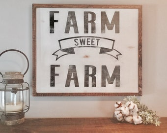 Farm Sweet Farm | Wood Sign