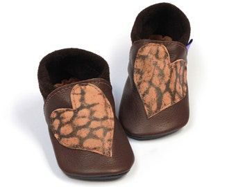 Leather toddler shoes prewalkers Reclaimed leather Ready to ship First birthday moccasins