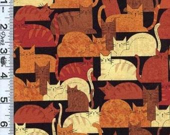 Crafty Cats Black Quilting Fabric - Fat Quarter or Yardage