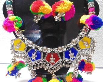 Tribal ethnic jewelry necklace | belly Dance gypsy kuchi banjara goth boho jewelry| Kuchi Tribal necklace| Tribal Jewelry